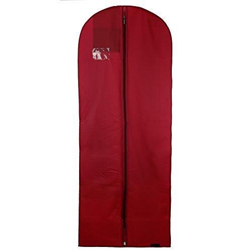 Hangerworld Lot synthétiques 152,4 cm imperméable Peva Robe Vêtements Suit Cover Bag, Bordeaux