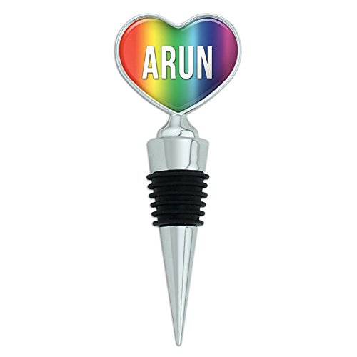 heart-love-wine-bottle-stopper-names-male-ar-ay-arun-rainbow