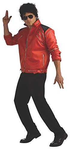 Jackson Michael Für It Erwachsene Beat Kostüm - Rubies 889774 - Erwachsene Kostüm Michael Jackson Beat it DLX rote Jacke, Gr. XL