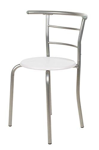 Sedie In Alluminio Per Cucina.Ts Ideen Set 3 Pezzi Tavolo Con 2 Sedie In Alluminio E Mdf Color