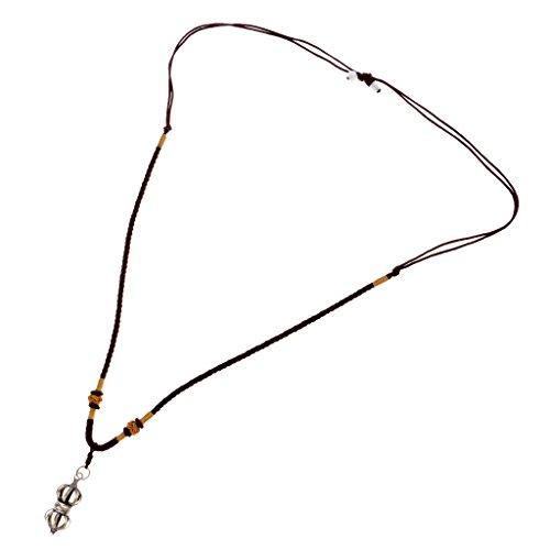 MagiDeal Tibetische Buddhismus Gebetskette Vajra Stößel Anhänger Halskette