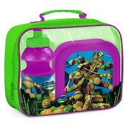 Teenage Mutant Ninja Turtles (101396) Kinder Pausen-Set, Pausentasche, Pausenbox und Trinkflasche, 3-teilig
