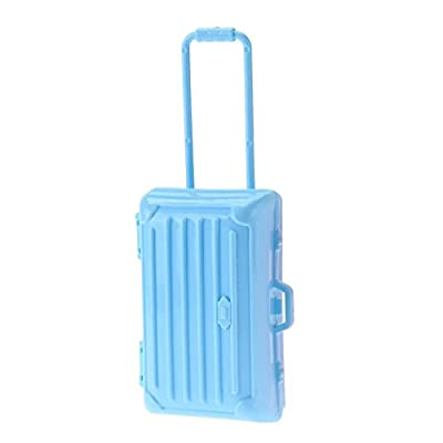 Silveroneuk 1pc Doll Accessory Toy Mini Air Hostess Plastic Suitcase Replica Doll Toys