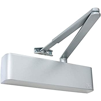 Rutland TS9205 2 Hour Fire Rated Size 5 Overhead Top Hung Door Closer Heavy Duty Adjustable Electro Brass
