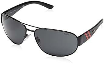 Polo - Lunette de soleil PH 3052 Wayfarer  - Homme, 900387, Shiny Black, Gray