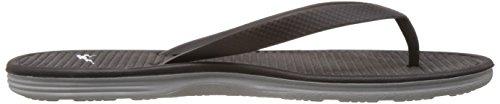 Nike Solarsoft Thong 2, Chaussures de Sport Homme, 47,5 EU Noir / blanc / gris (noir / blanc - gris basique)