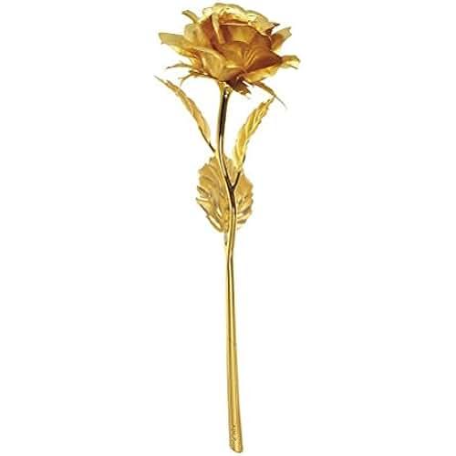 ofertas para el dia de la madre Pixnor Rosa bañada en oro de 24 K de alta pureza, una obra de arte, el mejor regalo para el día de San Valentín, Día de la madre, Navidad, cumpleaños, bodas - Hecho a mano, dura para siempre
