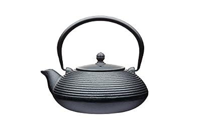 KitchenCraft Le'Xpress Théière en fonte Style japonais Avec infuseur 600ml, Fer forgé, noir, 8.7 x 8.5 x 9.8 cm