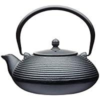 Kitchencraft Le'Xpress Teiera con infusore, in ghisa, stile giapponese, 900 ml (5 tazze), colore nero