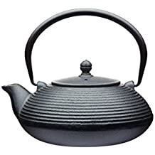 Kitchencraft Le 'Xpress japanese-style Infusor de hierro fundido tetera (900ml), diseño taza de (5), color negro