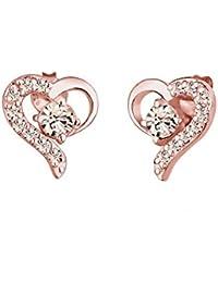 Elli Ohrringe Damen Herz Liebe mit Swarovski® Kristalle in 925 Sterling Silber