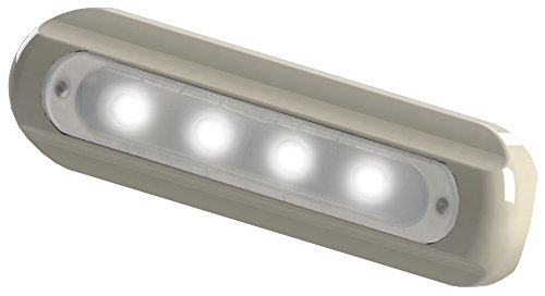 Flat Light Deck (TACO Metals TACO 4-LED Deck Light - Flat Mount - White Housing)