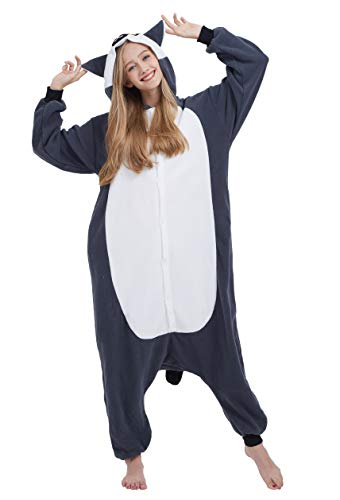 Karneval Halloween Kostüm Nachtwäsche Cosplay Pyjama Erwachsene Unisex Kigurumi Jumpsuit (XL (for Höhe 175-180CM), Lemur) ()