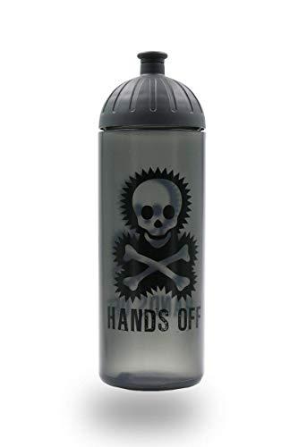 ISYbe Original Marken-Trink-Flasche für Kinder und Erwachsene, 700 ml, BPA-frei, Totenkopf-Motiv, geeignet für Schule-Reisen-Sport & Outdoor, Auslaufsicher auch mit Kohlensäure, Spülmaschine-fest