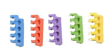 10 séparateurs d'orteils soit 5 paires mix couleurs et modèles, beauté des pieds