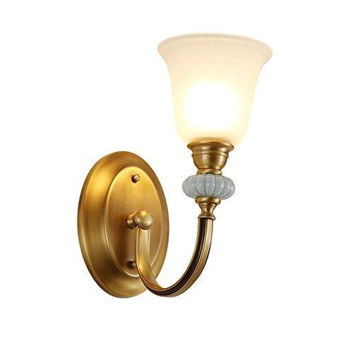 Phcom Europäische Keramik Kupfer Wandleuchte American Wohnzimmer TV Hintergrund Wandleuchte Französisch Garten Gang Schlafzimmer Nachttischlampe -