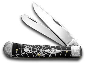 CaseXX XX Spider Web Black Delrin /500 Trapper Pocket Knife Knives