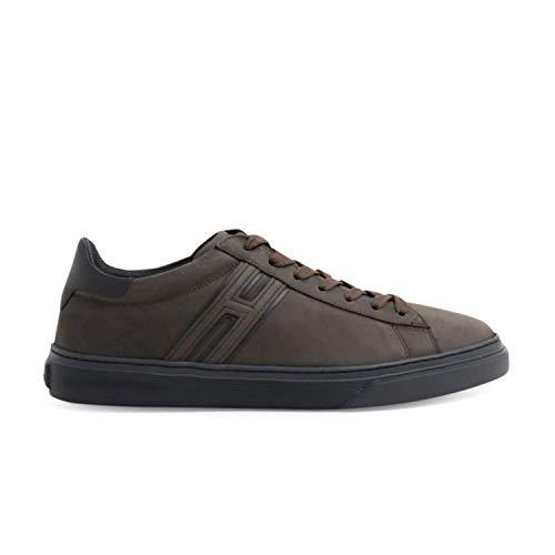 Hogan - Sneakers H365 Marrone Scuro in Nabuck - HXM3650J310LJA749S - 9
