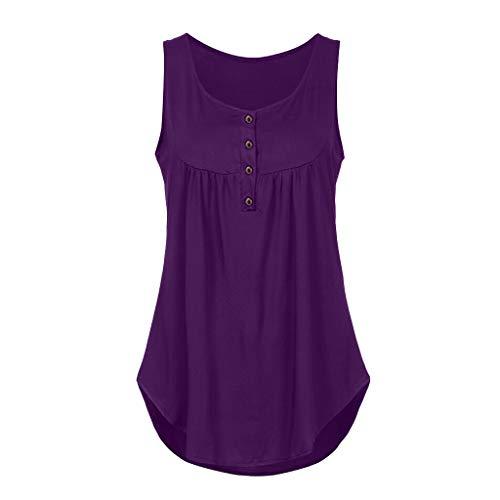 Moserian Damen Spring Sleeveless V-Ausschnitt Einfarbig Lässige Swing Shirts Flowy Tank Tops