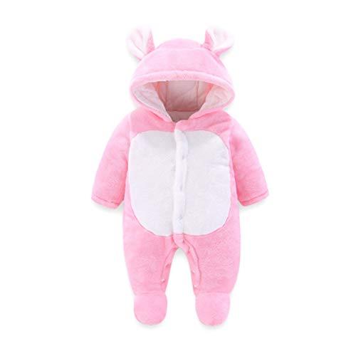 Baby Strampelanzug mit Füssen, Mütze für Jungen und Mädchen, mit Kapuze, für 0-12 Monate, Halloween, Cosplay-Kostüm 6-9 Monate rose (Monate Baby Halloween-kostüme 6-9)
