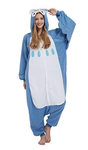 SAMGU Einhorn Adult Pyjama Cosplay Tier Onesie Body Nachtwäsche Kleid Overall Animal Sleepwear Erwachsene Eule M