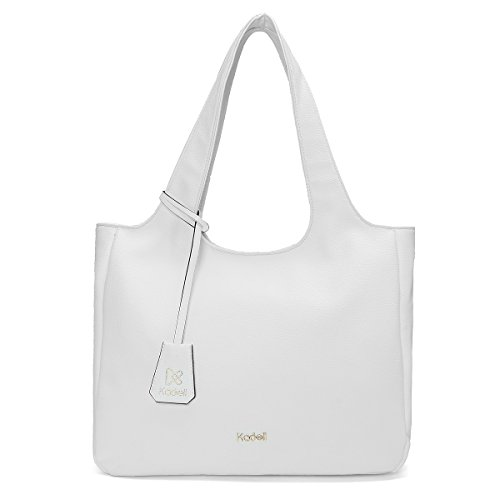 Einfache für weiche Entwerfer Weiß Handtasche Schulter Einkaufstasche lederne Damen PU Beutel Weiß Frauen Kadell nBRpEZ