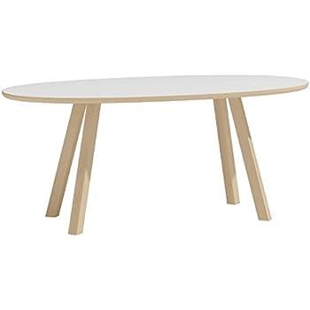 Teak Banana Oval kidney shaped Wood Coffee Table - Jati Brand