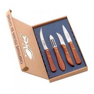 4 pièces en bois manche bois palissandre Ensemble de couteaux. ref 2951 de coutellerie neron
