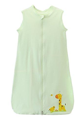 lafsack Baby Schlafsack Kleine Kinder Schlafanzug ohne Ärmel für Sommer und Frühling 100% Baumwolle, Gruen, 110/Koerpergroesse 110-125cm ()