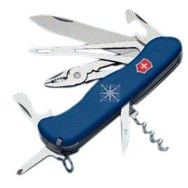 Victorinox Taschenwerkzeug Skipper Feststellbar Blau mit Wellenschliff, 0.9093.2W