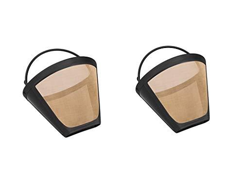 Gold Kaffee Filter für Cuisinart 6bis 12Tassen, Größe 4waschbar wiederverwendbar Permanent Coffee Filter von Wadoy Federboa