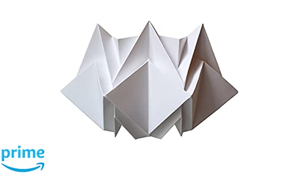 Lampada Origami Istruzioni : Lampada da parete origami in carta bianca amazon handmade