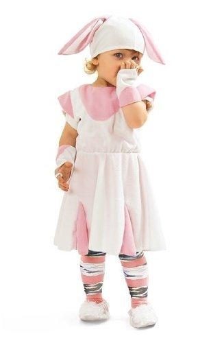 Kaninchen Kostüm Mädchen - süßes Hasenkostüm für Kinder in 4 Größen (134/140) (Kaninchen Kostüm Kind)
