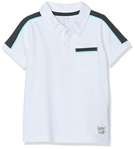 NAME IT Baby-Jungen Nmmhullo Ss Polo Poloshirt, Weiß (Bright White), (Herstellergröße: 98) -