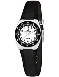 Calypso watches - Reloj analógico de cuarzo unisex con correa de caucho, color negro
