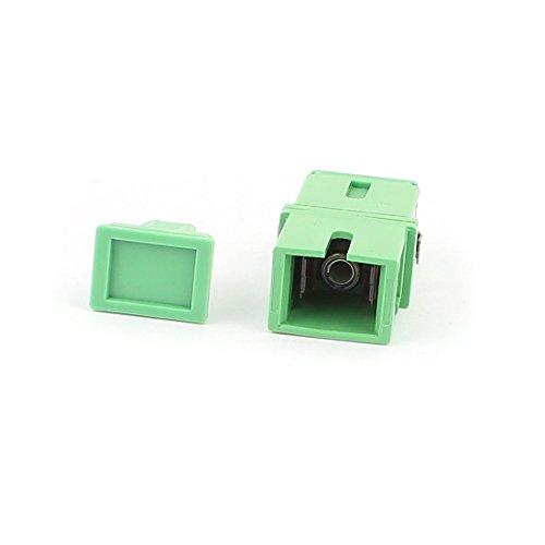 sourcingmap® Einzeln-Mode SC-SC APC Simplex Faser Koppler Flansch Optisch Fiber Adapter DE de -