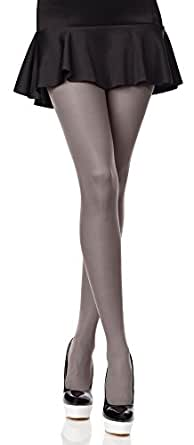 Merry Style Donna Opaco Collant Microfibra 40 DEN (Grigio, 1/2 (30-36))