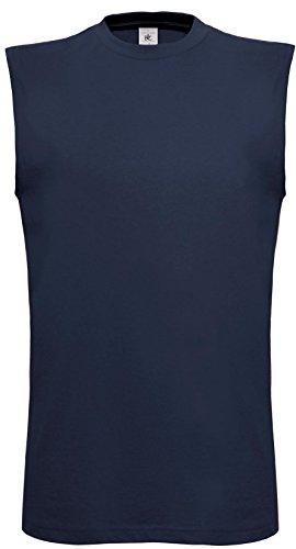 B & C Collection Herren Exact Move ärmellos T-Shirt Casual Wear Erwachsene Weste Top Blau - Navy