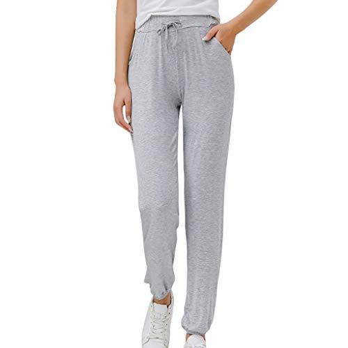 Damen Schlafanzughose Pyjamahose Baumwolle Nachtwäsche Hose Sporthose Freizeithose Jogging Hose Traininghose Fitness High Waist Lang Sleep Hose Pants