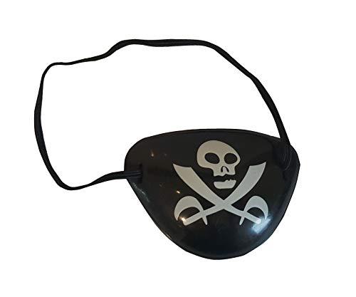 Sonnenscheinschuhe® Augenklappe Pirat Totenkopf Kostüm Zubehör Karneval Kindergeburtstag Fastnacht (Piraten Augenklappe Kostüm)