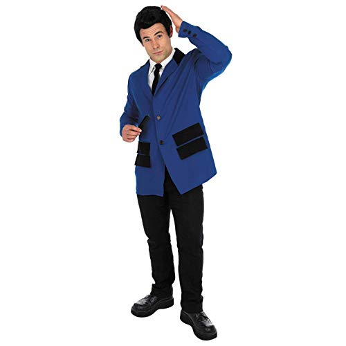 Fun Shack Herren Costume Kostüm, Mens 50s Teddy Boy Suit Navy, - Teddy Boy Kostüm