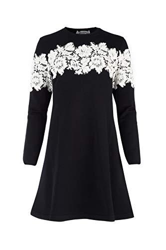 Valentino Damen Qb2kd0714420na Schwarz Viskose Kleid