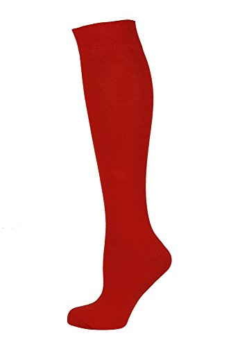 MySocks Unisex kniehohe lange Socken rot