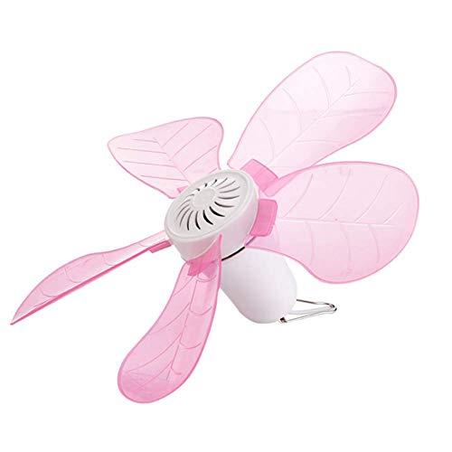 Deckenventilatoren Kinder kleine Ceiling Fan Baby Mini-Haushaltsfan Silent Mosquito Net Fan,Pink (Fan-pink Kleine)