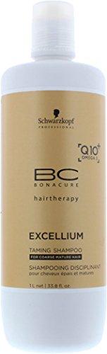 Schwarzkopf Bc Bonacure Excellium Q10+ Taming Shampoo 1000ml For Ladies Haircare