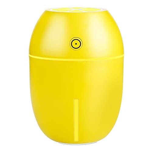 Haosir Ultraschall Raumluftbefeuchter 1,8 Liter Aroma DuftöL Vase Diffusor Holzmaserung Einstellbare Nebelstufen Und Aromafach, FüR Schlafzimmer Baby Kinderzimmer BüRo Bis Zu,Yellow (Vase Diffusor)