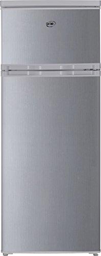 DAYA Home Appliances DDP-29H4S Frigorifero Doppia Porta, 55 x 141.5 x 58 cm, Argento
