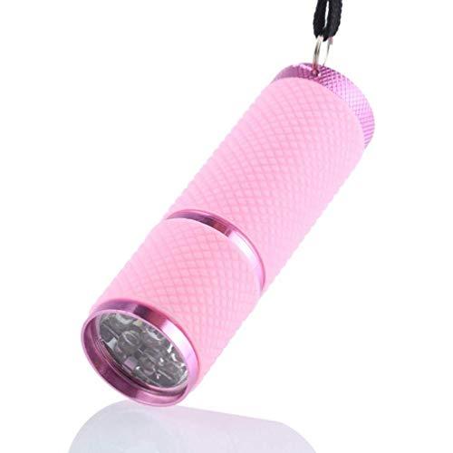 lampe, Aluminium, UV- und UV-Licht, 9 LEDs, Schwarz/Rosa ()