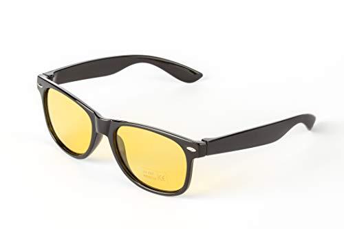 CarQuipment Nachtsichtbrille in edlem Design (unisex) fürs Autofahren mit Polaroid Gläsern für mehr Sicherheit und Augenschutz bei Fahrt in Dämmerung und Nacht bei unklaren Sichtverhältnissen