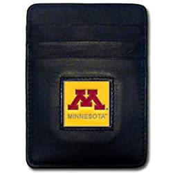 NCAA Minnesota Golden Gophers Leather Money Clip/Cardholder